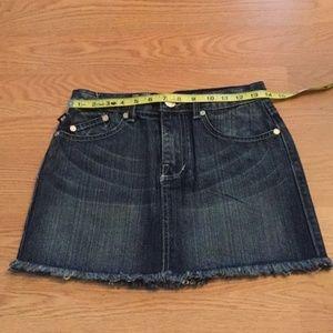 Victoria Beckham Rock & Republic Jean Skirt Sz28